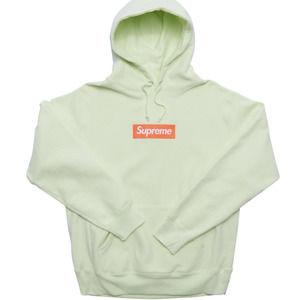 Supreme Box Logo Hoody Sweatshirt Pale Lime M NWT